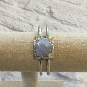 LUCKY BRAND Silver tone open cuff bracelet